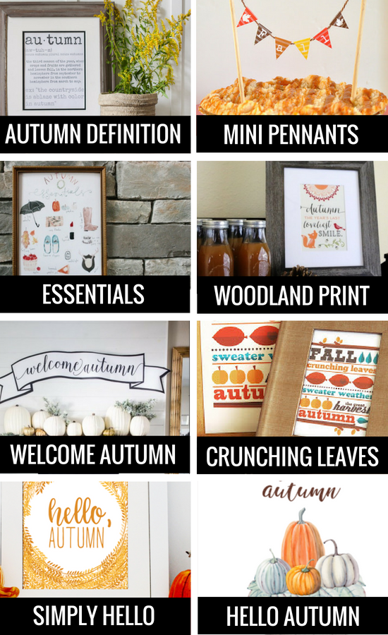 Fall Printables for Autumn Decorations