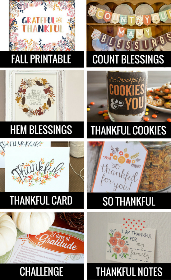 Fall Printables for Gratitude