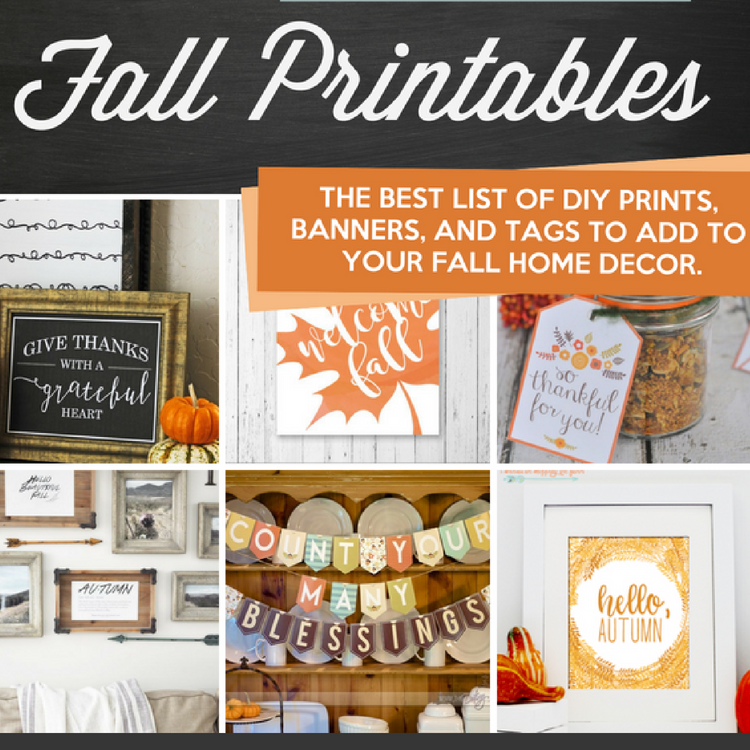 picture regarding Happy Thanksgiving Signs Printable titled 65 Drop Printables and Absolutely free Slide Decorating Strategies - The