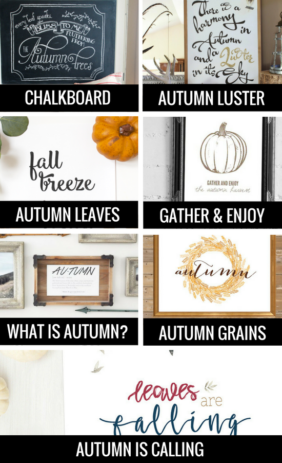Free Fall Printables for Autumn Decorating