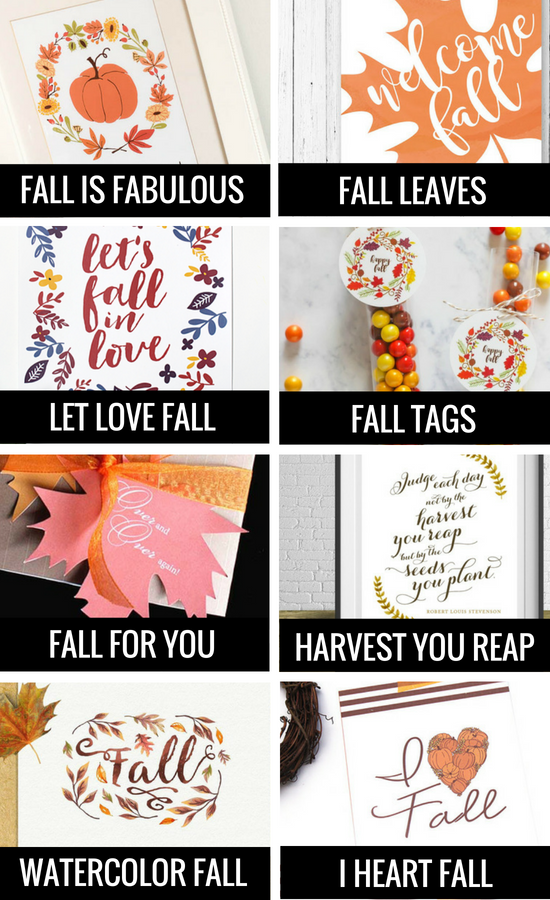 Printables for DIY Fall Decor