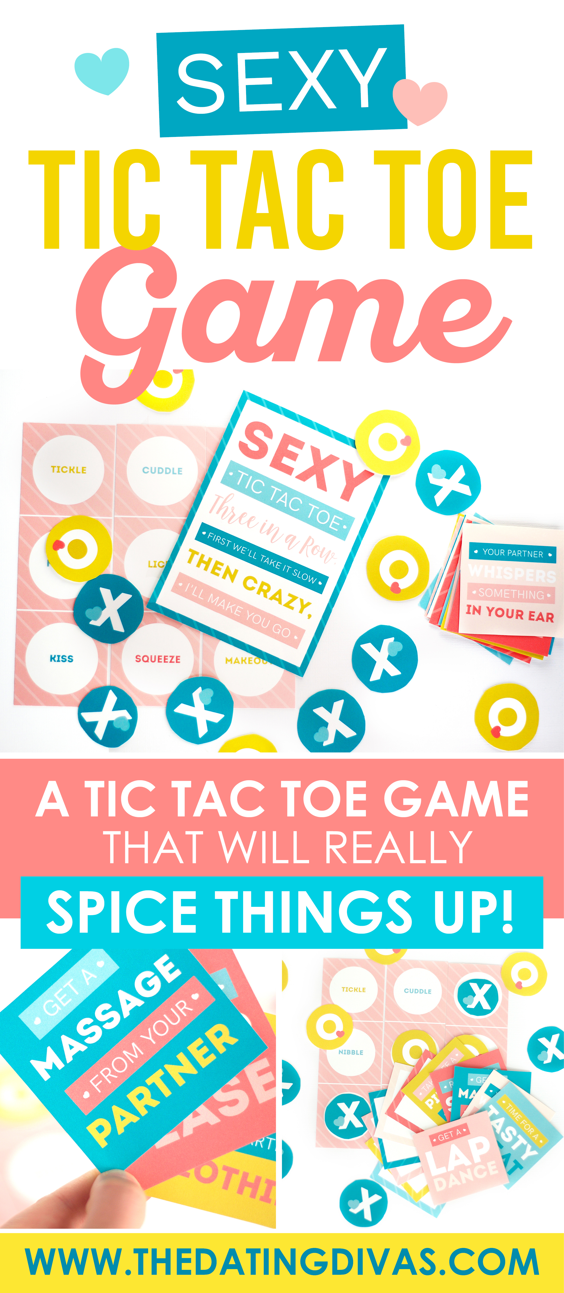 Win in the bedroom with this Sexy Tic Tac Toe Game! It will spice up your marriage TONIGHT! #tictactoegame #tictactoeboard
