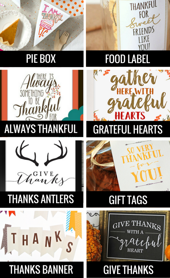 Thankful Signs and Fall Printables