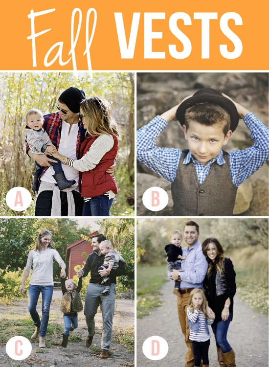 Fall Vests for Photos