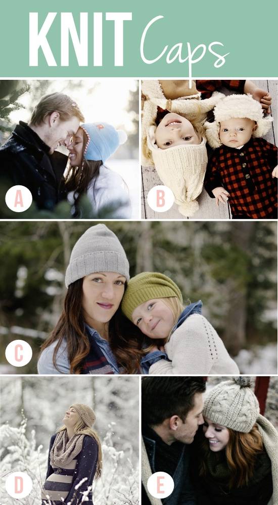 Fun Knit Caps for Winter Photos