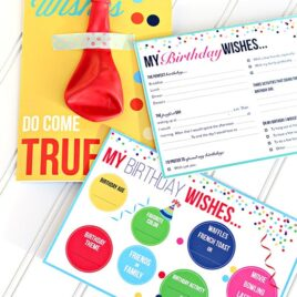 Birthday Questionnaire For Spouse and Kids