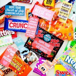 Holiday Candy Bar Gift Tags