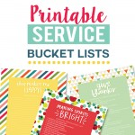 Printable Service Bucket Lists