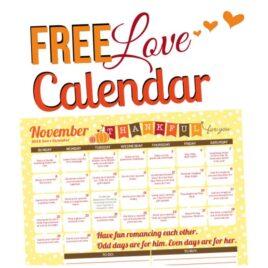 2015 November Love Calendar