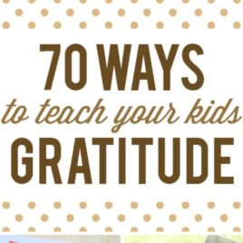 Ways to teach your kids about gratitude.