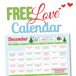 Free December 2015 Love Calendar