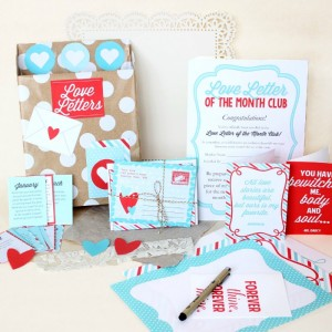 Love Letter of the Month Club- romantic gift