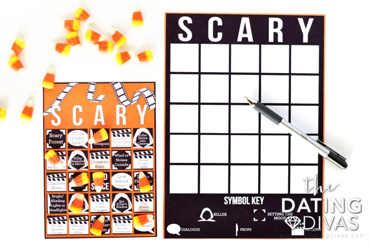 Scary Movie Bingo Notes Card