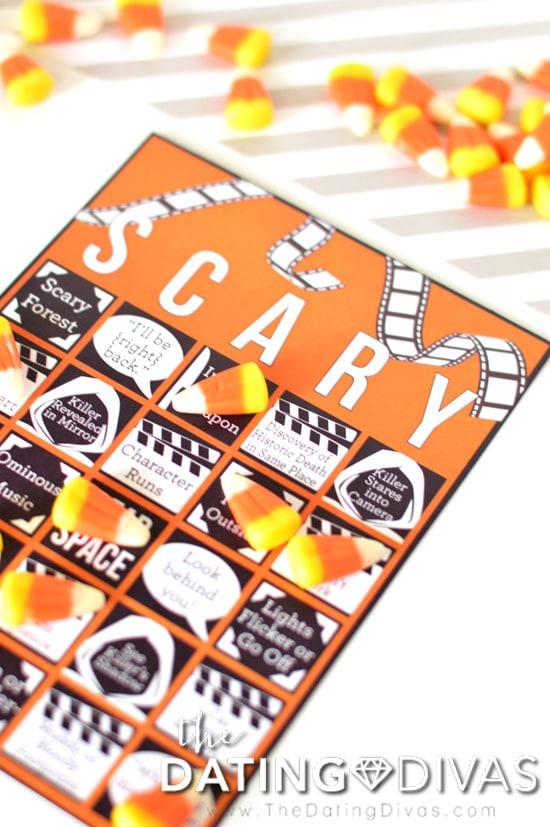 Scary Movie Bingo Playing Card