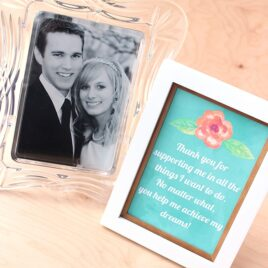 Frameable thank you notes