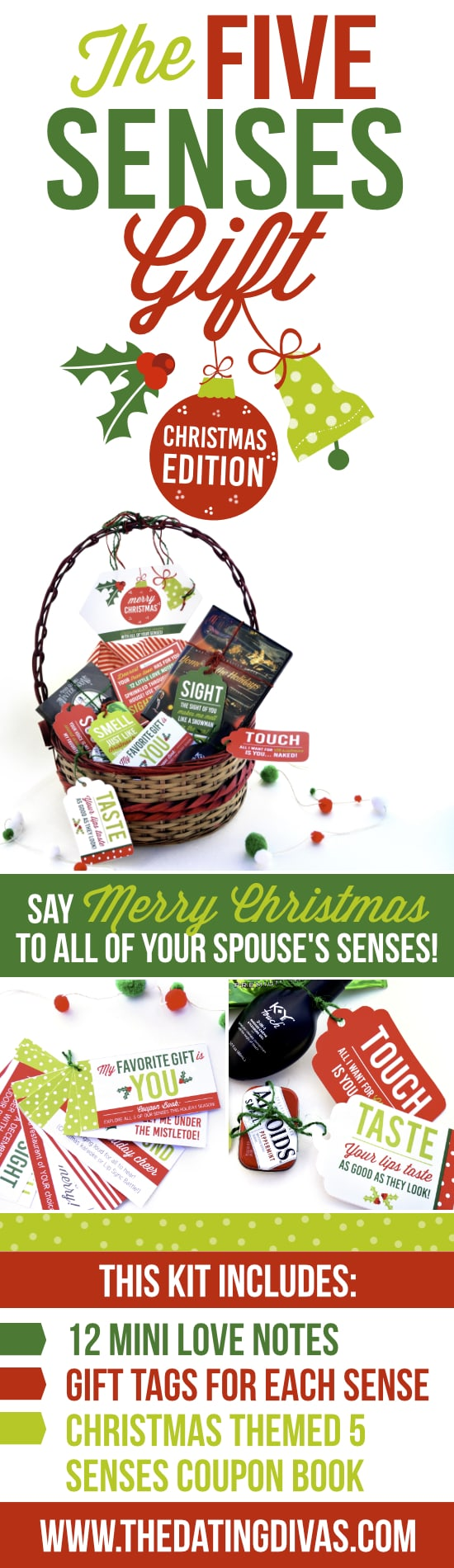 Give a gift to each of your sweetie's 5 senses!