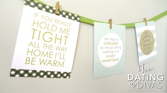 Christmas Lyric Love Prints