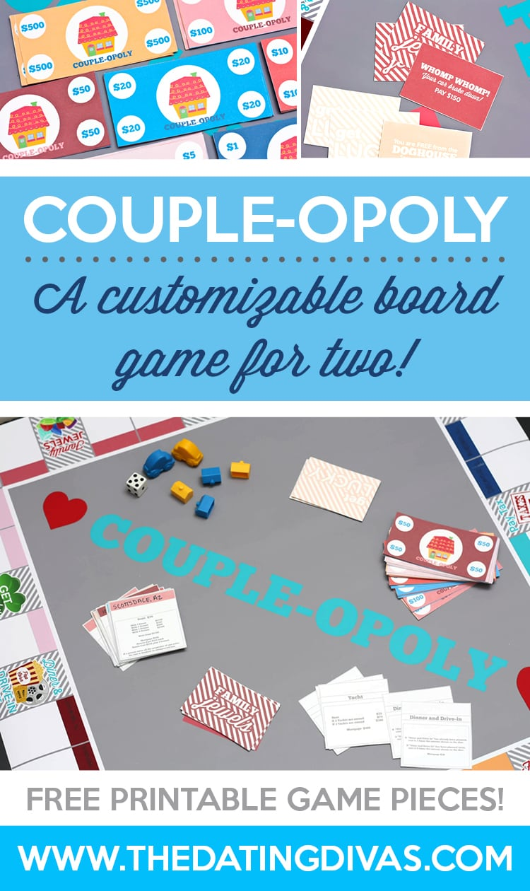 Customizable board game for two.