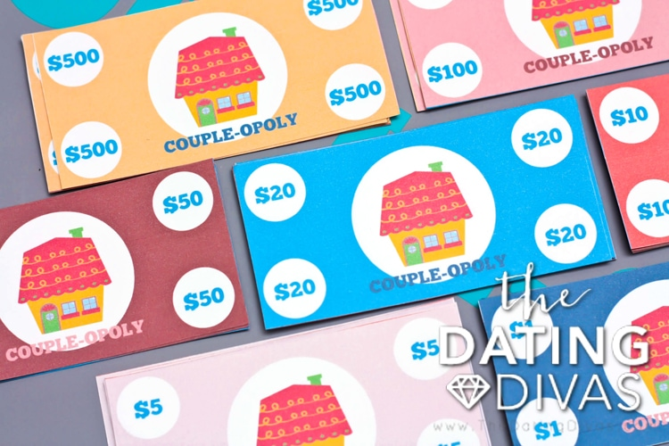 Printable money for couple-opoly.
