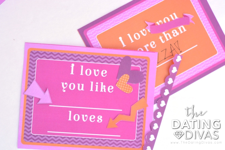 Fill-in-the-blank Valentine's Love Notes with special decor add-ons!