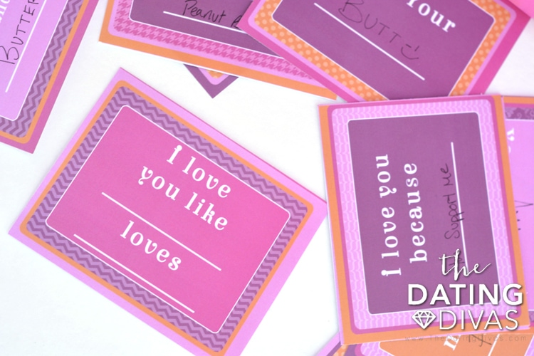Funny and sweet fill-in-the-blank Valentine's Love Notes!