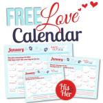 January 2016 Love Calendar
