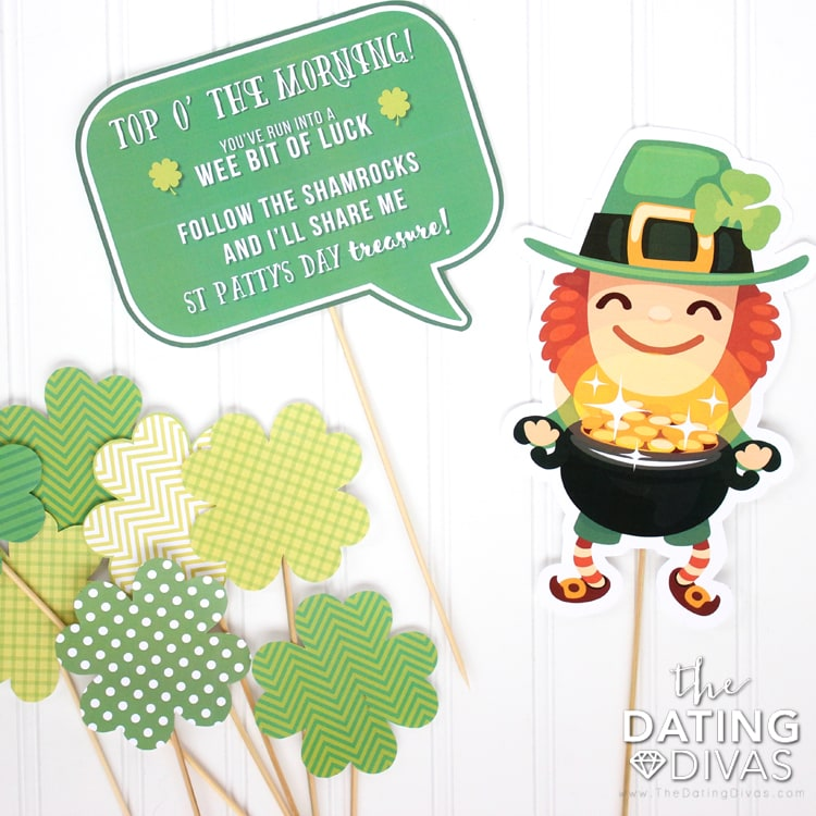 Leprechaun Idea Shamrocked Printables