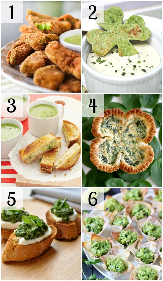 6 st patricks day party food ideas in collage