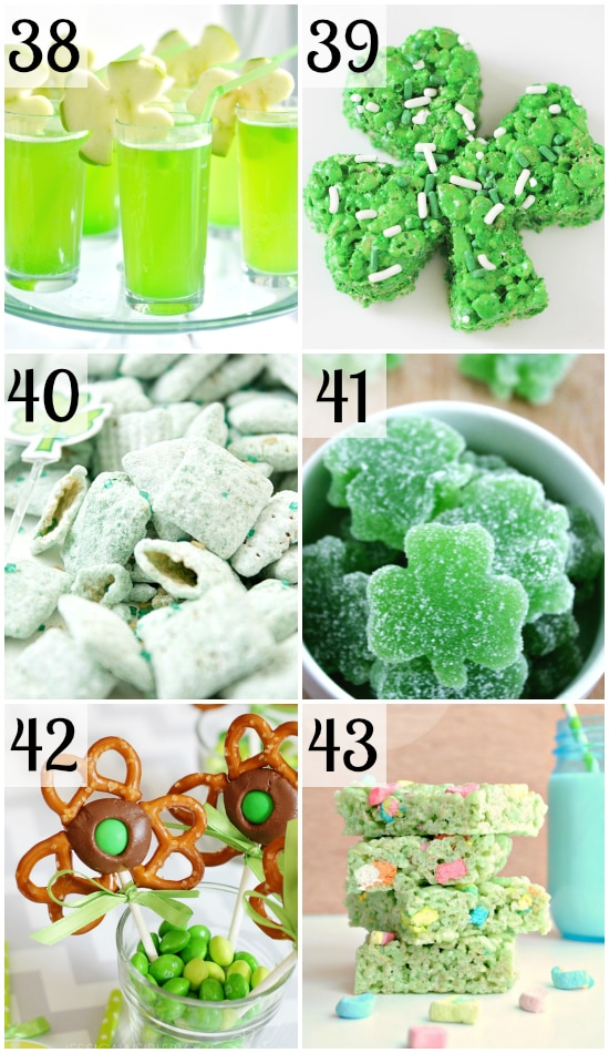 St. Patrick's Day Shamrock Treats collage
