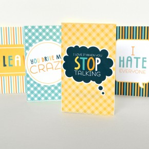 Free printable April Fool's Day Tricky Love Cards