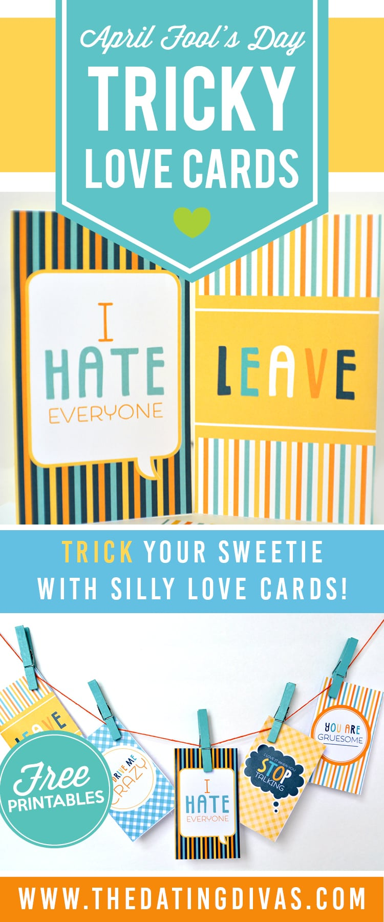 5 adorable, tricky cards for April Fool's Day!