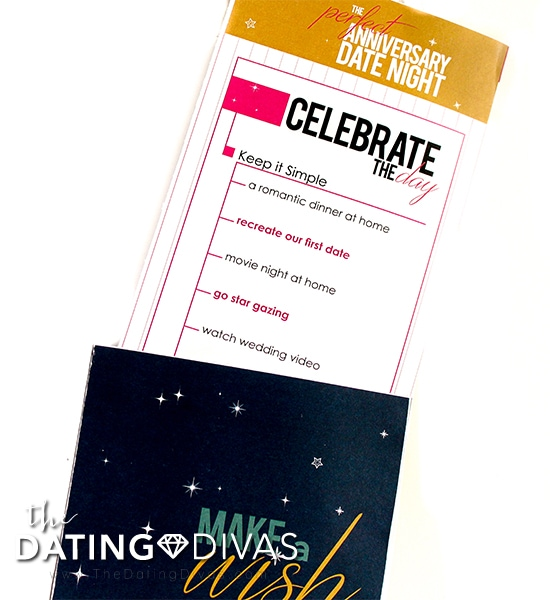 Date Night Request Forms Slip Envelope