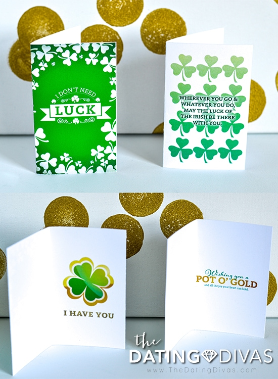 Lucky I Have You and Irish Blessing Cards