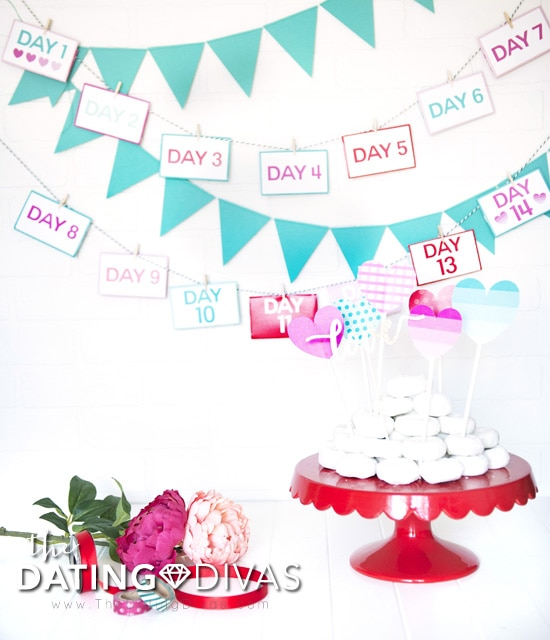 Printable Valentine's Day Countdown for your Sweetie
