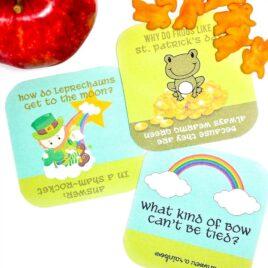 St. Patrick's Day lunch box jokes.