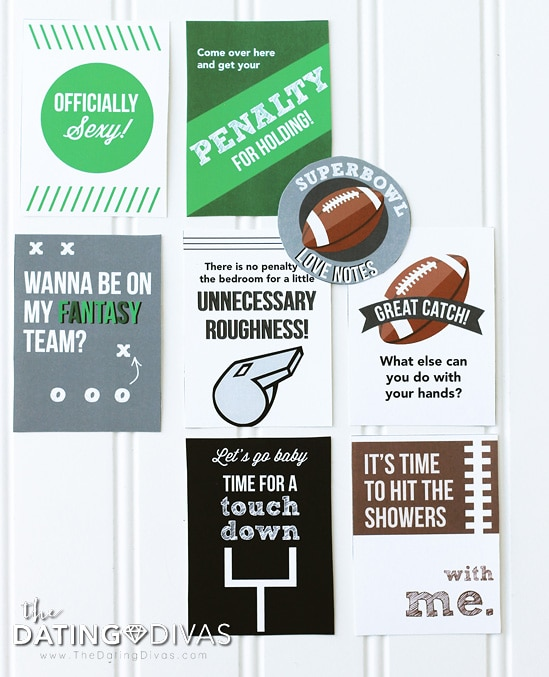Super Bowl Party Pack Football Love Notes