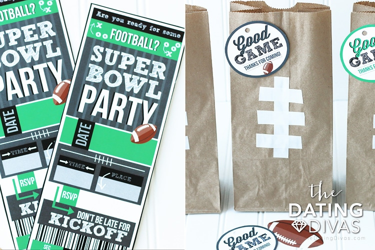 Super Bowl Party Pack Gift Bags