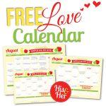 2016 August Love Calendar