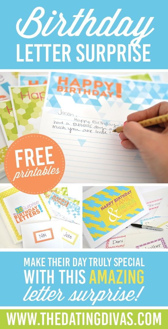 Birthday letter surprise for your spouse!
