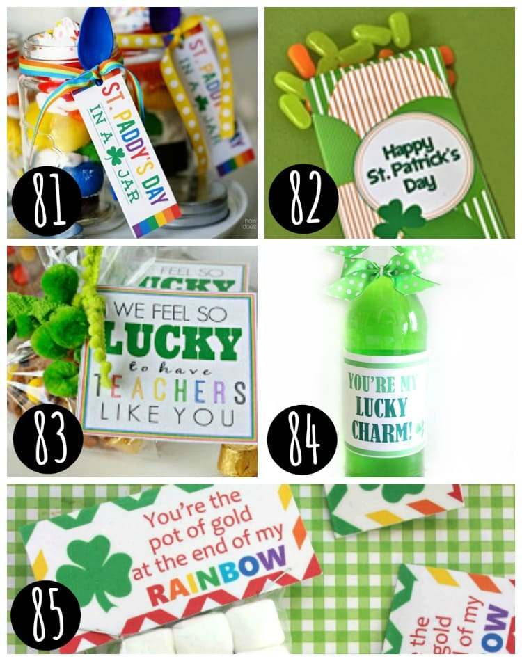 5 st patrick's day treat printables