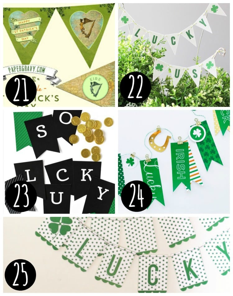 Free St. Patrick's Day Banners