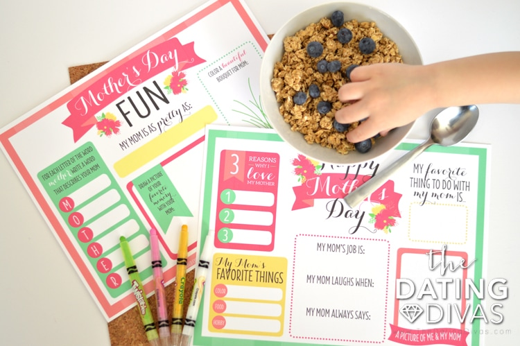 Free Printable Mother's Day Placemats