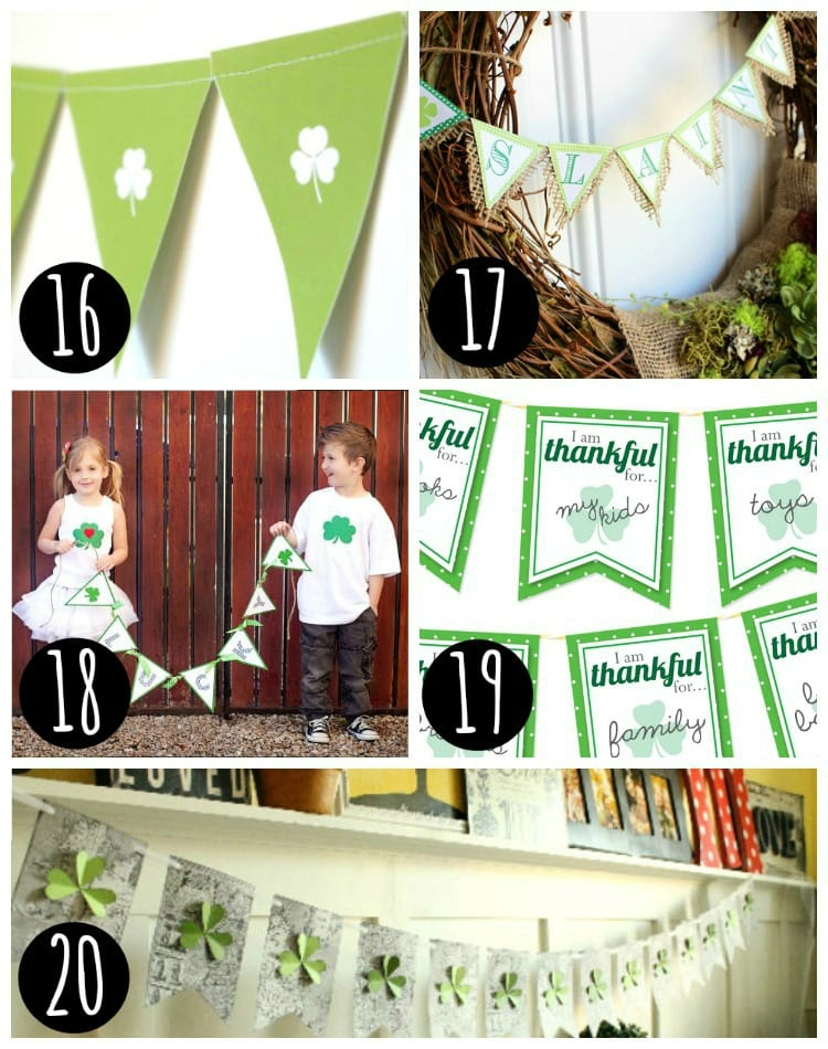 5 St. Patrick's Day Banners printables