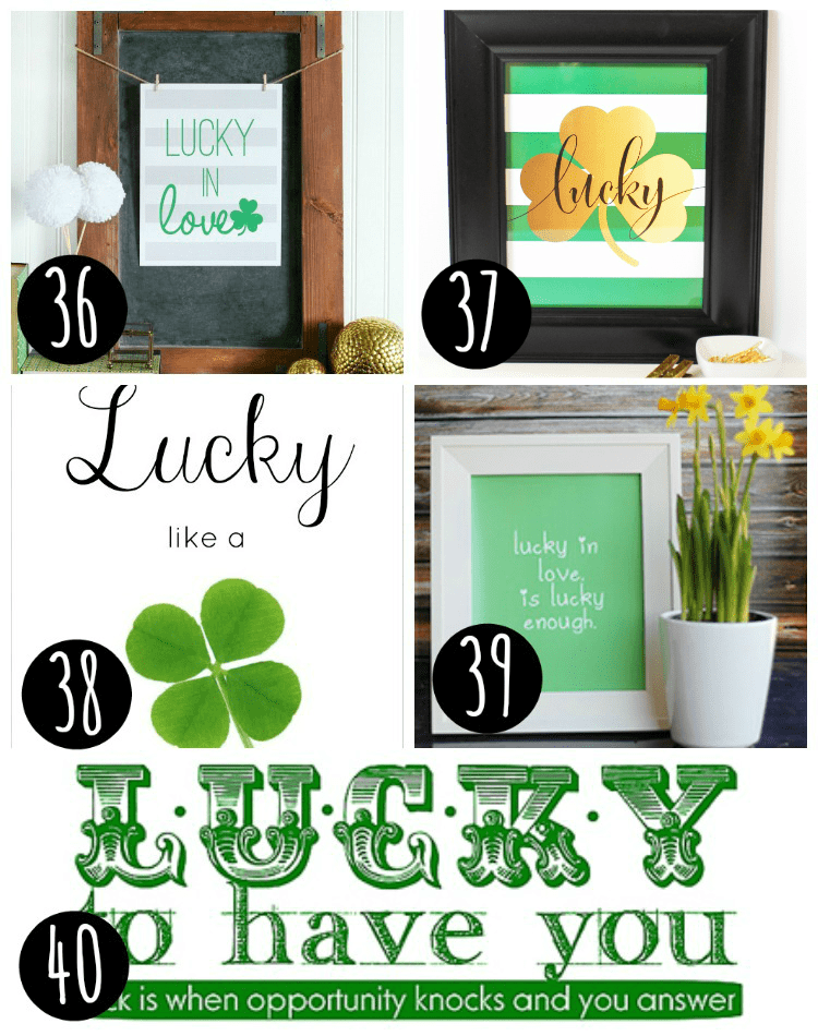 5 st patrick's day printables for free