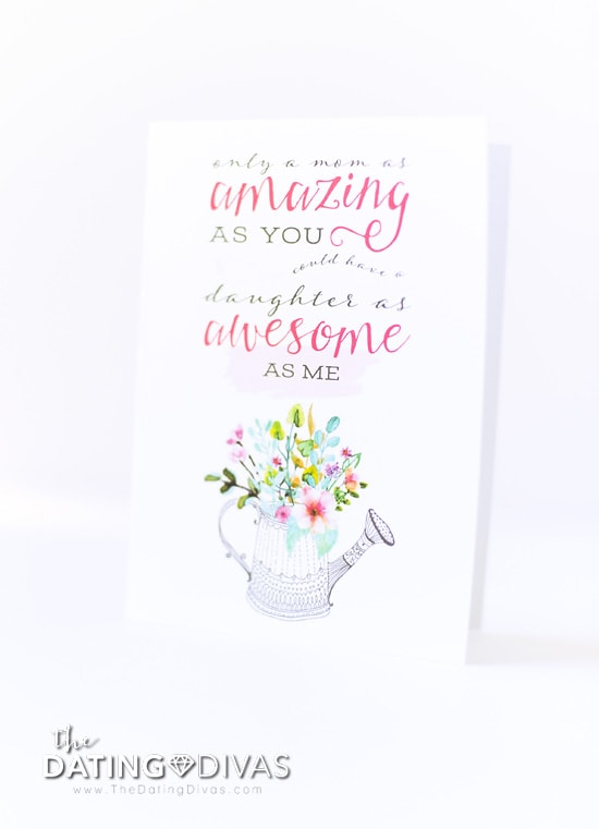 Funny FREE Printable Mother's Day Card from The Dating Divas