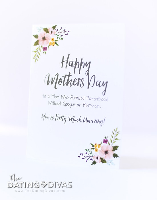 Hilarious FREE Printable Mother's Day Cards from The Dating Divas