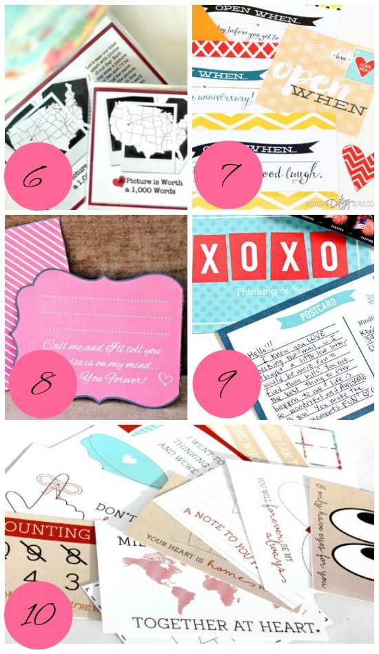 Tips on how to keep the love alive when apart through snail mail.