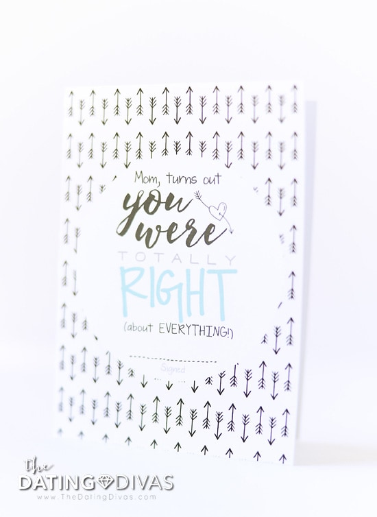 Hilariously Funny and FREE Printable Mother's Day Cards from The Dating Divas