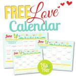 2016 June Love Calendar
