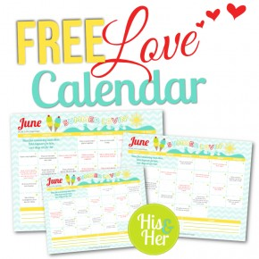 Free Printable Love Calendar June